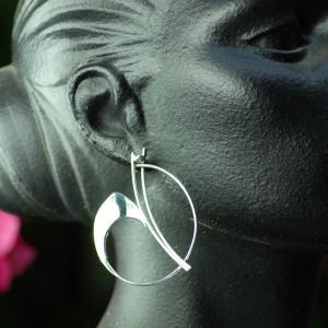Boucles d'oreilles en argent faites-main par l'Atelier de Galadrielle
