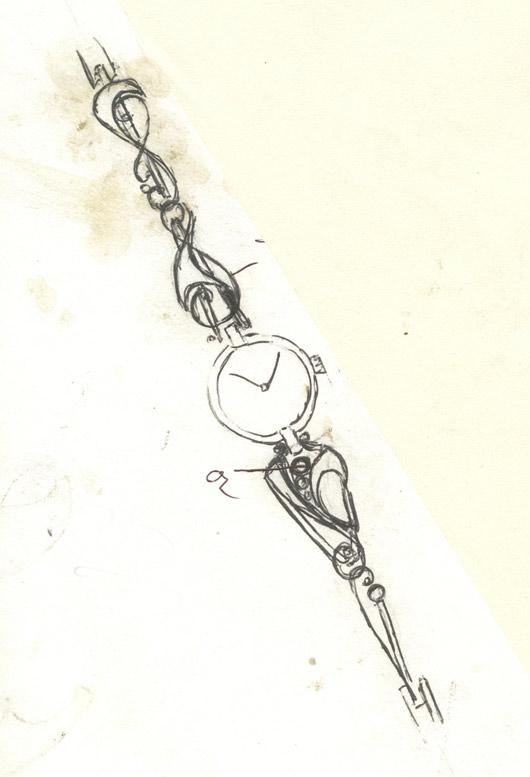 croquis-bracelet-montre-argent