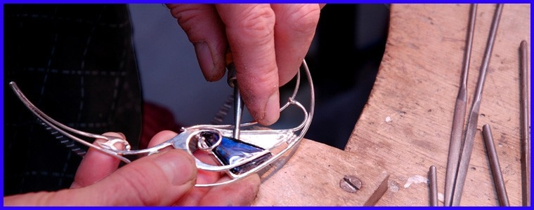 Original and handmade silver jewelry designer.